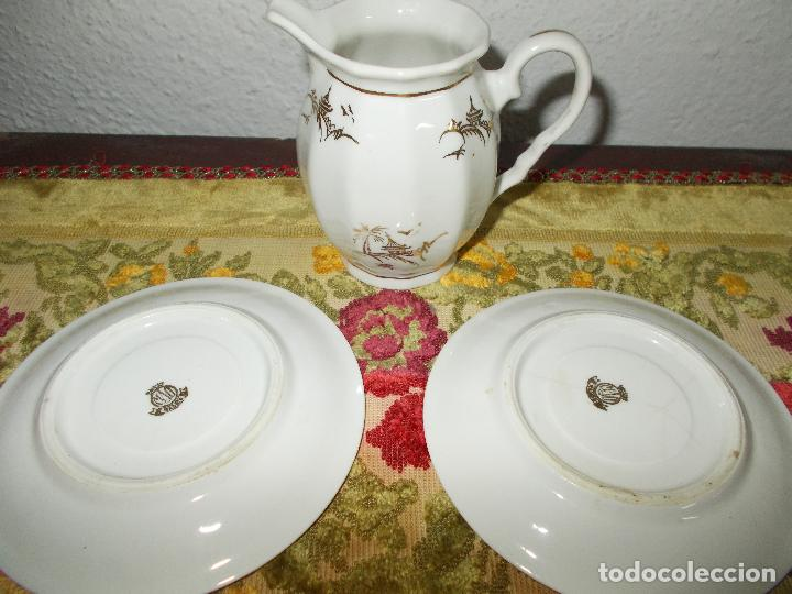 Segunda Mano: Lechera y 2 platos porcelana MAO - Foto 2 - 62956300