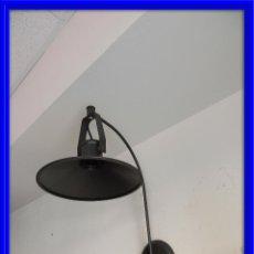 Segunda Mano: APLIQUE LAMPARA O FOCO DE PARED EN METAL NEGRO. Lote 63361344