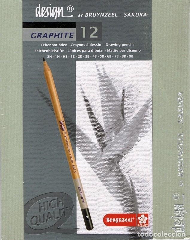 CAJA DE 12 LÁPICES PARA DIBUJAR GRAFITO BRUYNZEEL ZAKURA DESIGN (PRECINTADO) (Segunda Mano - Otros)
