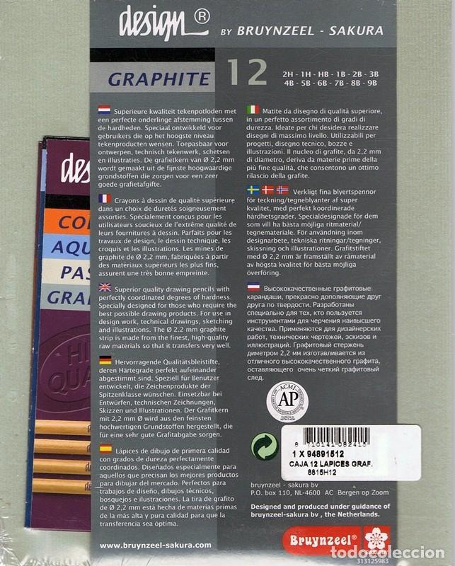 Segunda Mano: CAJA DE 12 LÁPICES PARA DIBUJAR GRAFITO BRUYNZEEL ZAKURA DESIGN (PRECINTADO) - Foto 2 - 63710503