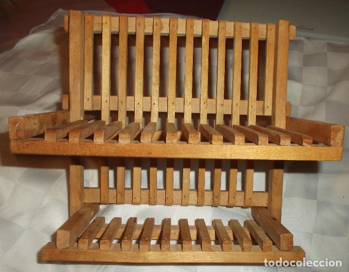 Soporte de madera para platos y tazas peque as comprar Oferta decoracion hogar online