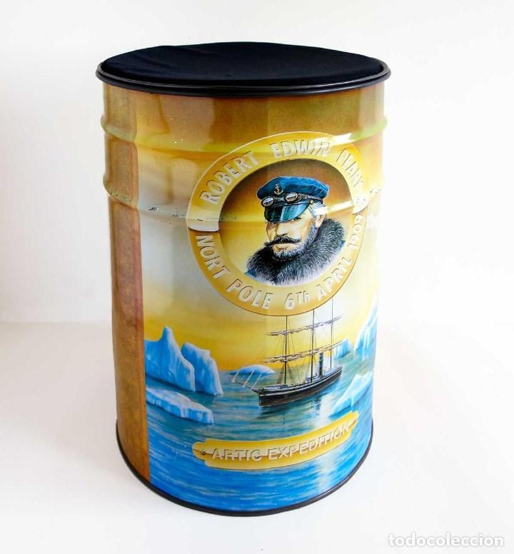 Bidon Taburete Chapa Gruesa Con Cojín Sold Through Direct Sale