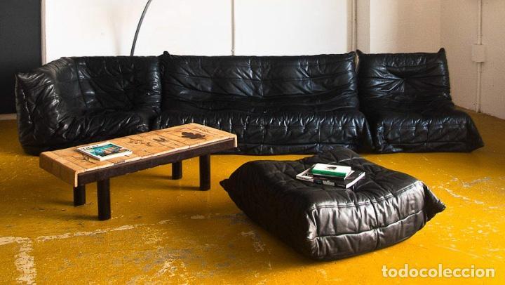 Vintage Togo Sofa Set Wonderful Black Leather Comprar Artículos