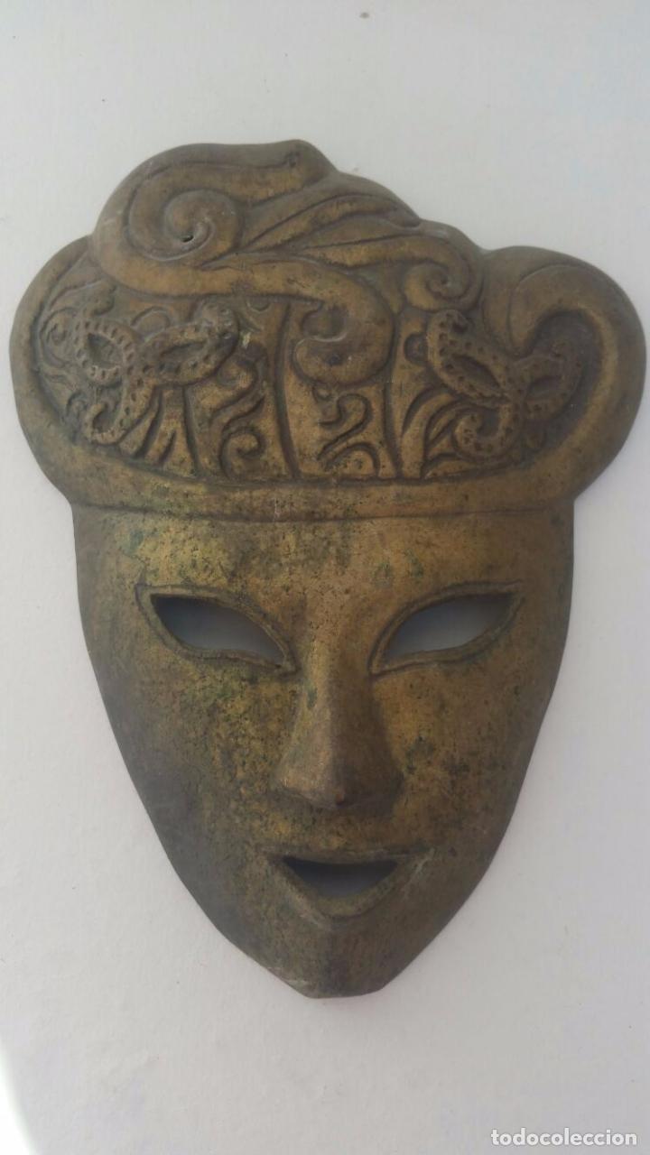 Segunda Mano: Mascara veneciana de bronce - 26 x 19 cm - Foto 4 - 65053123