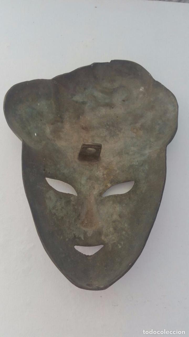 Segunda Mano: Mascara veneciana de bronce - 26 x 19 cm - Foto 5 - 65053123