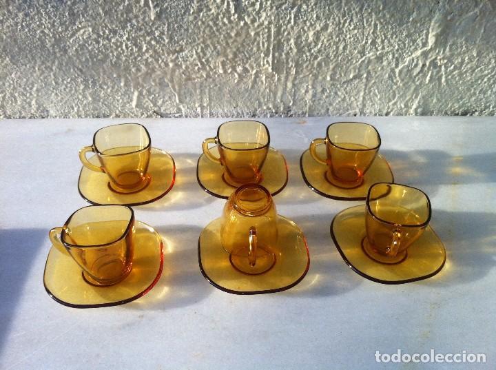 DURALEX AMBAR (VERECO FRANCES) 6 JUEGOS DE CAFE (Segunda Mano - Hogar y decoración)