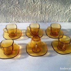 Segunda Mano: DURALEX AMBAR (VERECO FRANCES) 6 JUEGOS DE CAFE. Lote 66045210