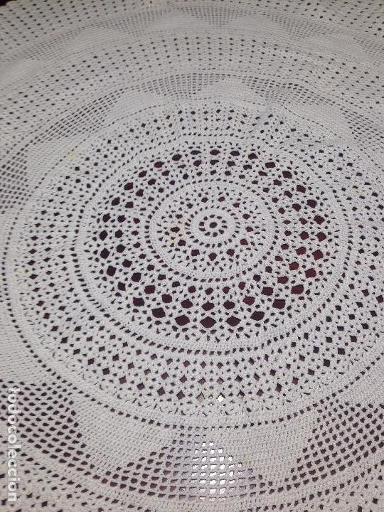 Segunda Mano: tapete de ganchillo, redondo - Foto 3 - 66216518