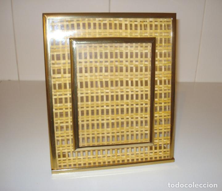 marco de mimbre y cristal 28 x 23 cm - Comprar artículos de segunda ...