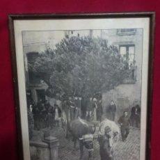 Segunda Mano: ANTIGUA LÁMINA ENMARCADA - FESTA DEL PI - QUICARELL 1977 - MEDIDAS 46 X 33 CM.. Lote 66962062