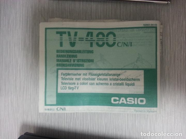 Segunda Mano: TELEVISION PORTATIL CASIO TV-480 LCD COLOR - VINTAGE - Foto 12 - 67749141