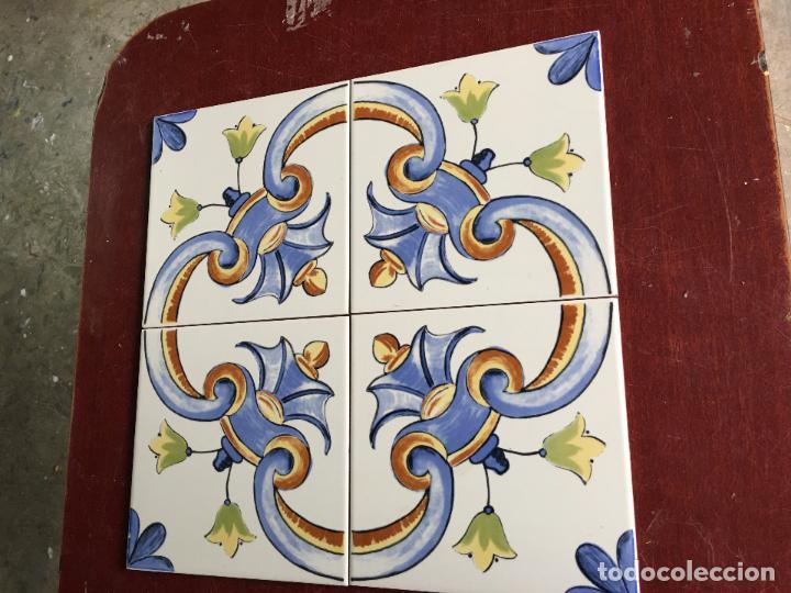 4 AZULEJOS DE 20 X 20 CMS. PARA HACER UN MOSAICO O ENMARCAR (Segunda Mano - Hogar y decoración)