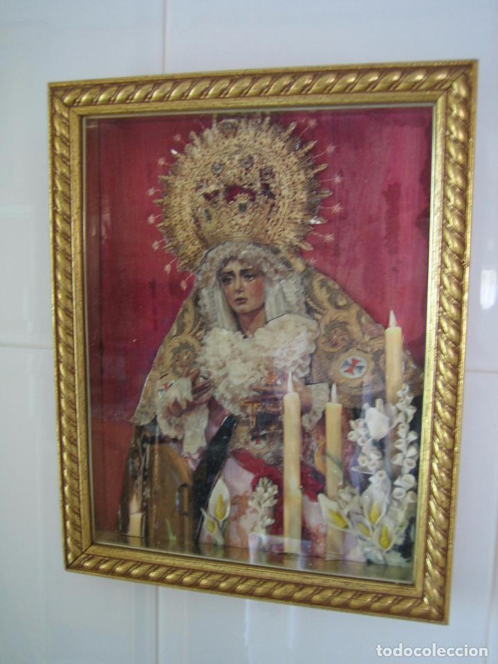 CUADRO RELIGIOSO DE VIRGEN.MEDIDAS 28X34 CM (Segunda Mano - Hogar y decoración)