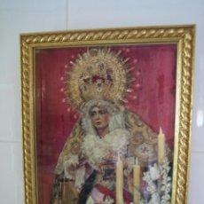 Segunda Mano: CUADRO RELIGIOSO DE VIRGEN.MEDIDAS 28X34 CM. Lote 68229317