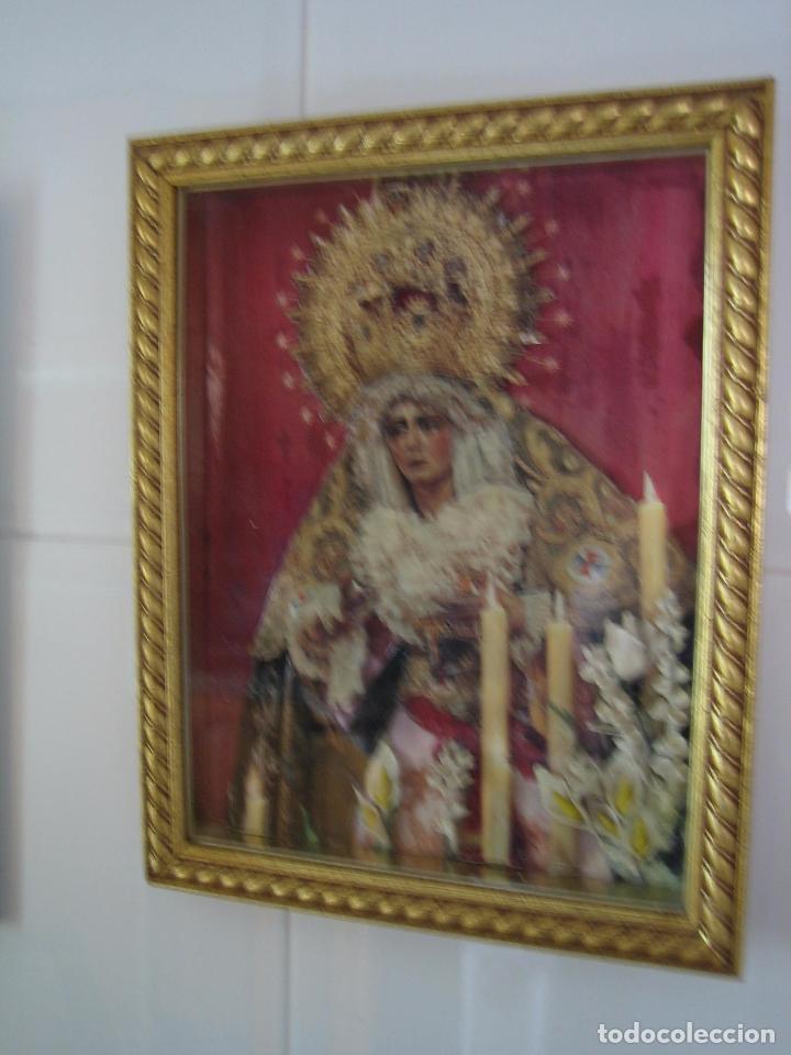 Segunda Mano: Cuadro religioso de virgen.Medidas 28x34 cm - Foto 2 - 68229317
