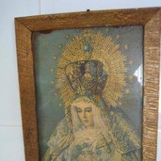 Segunda Mano: CUADRO RELIGIOSO DE VIRGEN..MEDIDAS 27X20 CM. Lote 68230093