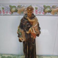 Segunda Mano: FIGURA RELIGIOSA DE SAN ANTONIO . ALTURA 34 CM. Lote 68230649