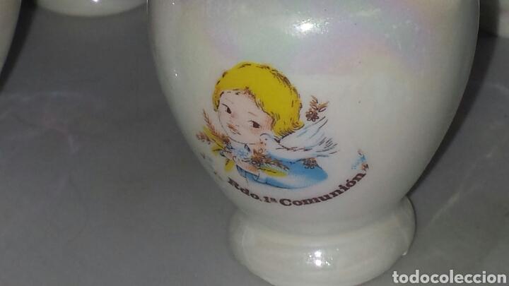 Segunda Mano: Lote 22 figura cerámica DETALLE RECUERDO PRIMERA COMUNIÓN - BOTIJO JARRA TETERA ... - Foto 2 - 68460713
