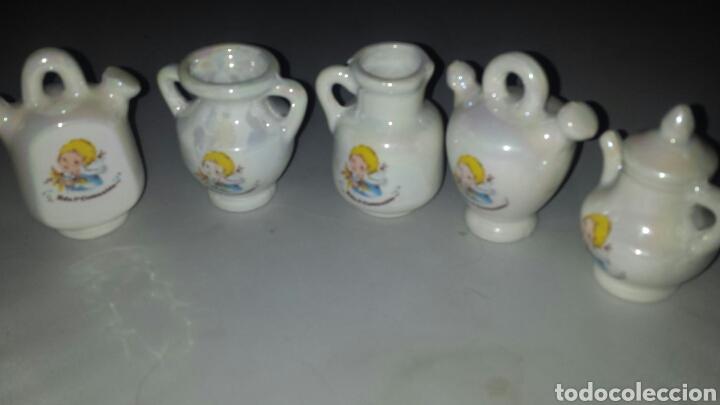 Segunda Mano: Lote 22 figura cerámica DETALLE RECUERDO PRIMERA COMUNIÓN - BOTIJO JARRA TETERA ... - Foto 3 - 68460713