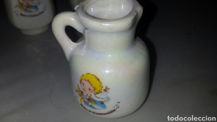 Segunda Mano: Lote 22 figura cerámica DETALLE RECUERDO PRIMERA COMUNIÓN - BOTIJO JARRA TETERA ... - Foto 6 - 68460713
