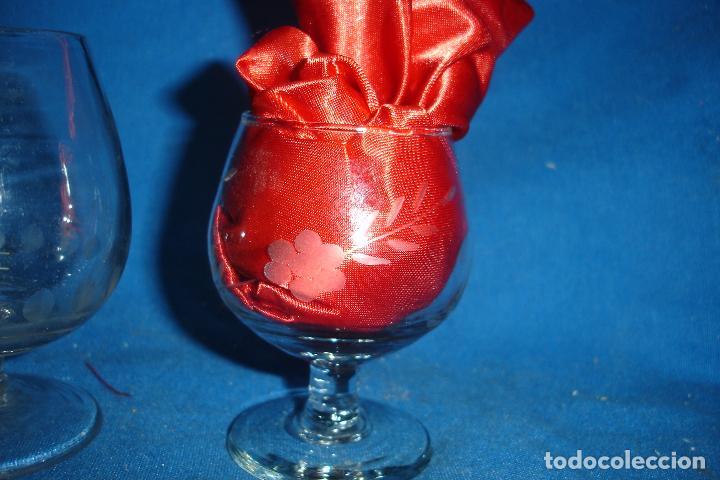 Segunda Mano: ANTIGUAS COPAS DE CRISTAL TALLADAS - 3 UNIDADES - Foto 4 - 69067797