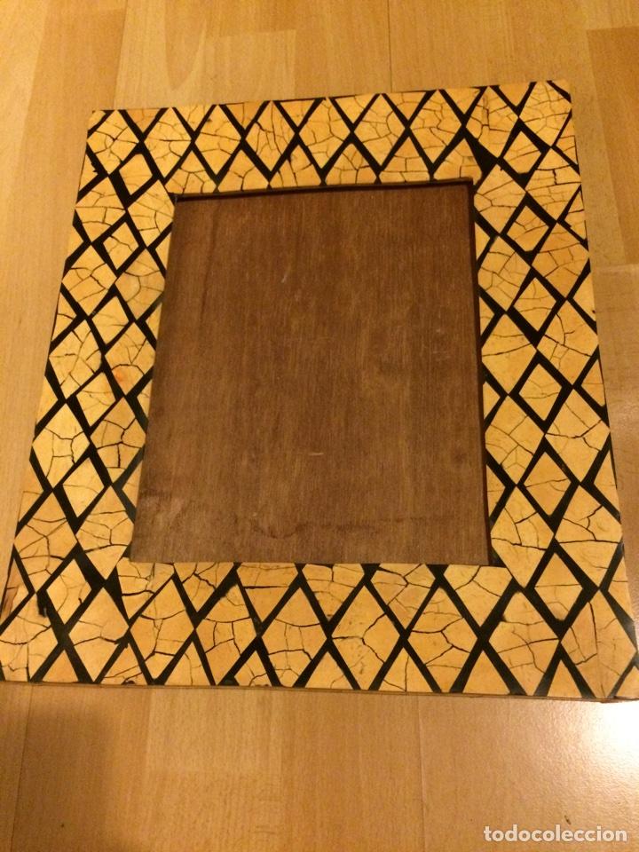 marco de artesanía en marquetería de coco.31 x - Comprar artículos ...