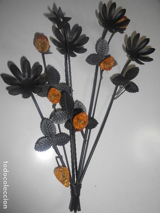 Segunda Mano: Ramo de flores en metal y cristal - Foto 2 - 69978165