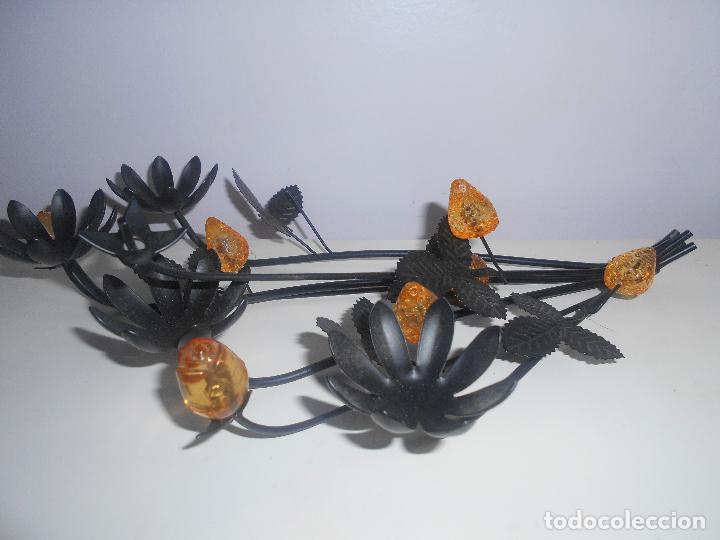 Segunda Mano: Ramo de flores en metal y cristal - Foto 3 - 69978165