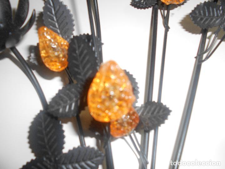 Segunda Mano: Ramo de flores en metal y cristal - Foto 4 - 69978165
