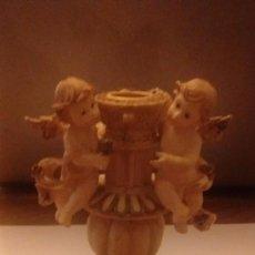Segunda Mano: CANDELABRO CON PAR DE ANGELES 17 CM. Lote 73431771