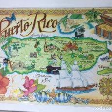 Segunda Mano: SALVA MANTEL PLASTIFICADO DE MAPA PUERTO RICO, 44 X 30 CM.. Lote 73521067