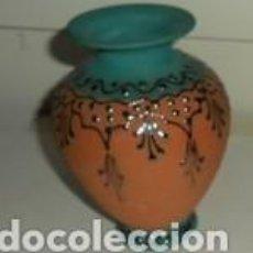 Segunda Mano: PEQUEÑO JARRÓN DE BARRO CON DECORACIONES. Lote 74848863