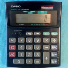 Segunda Mano: CALCULADORA CASIO SOLAR 'WEEKLY CAL EU-320W'. ENVÍO: 2,50 € *.. Lote 194977071