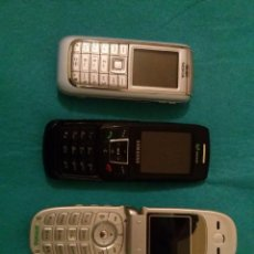 Segunda Mano: LOTE DE TRES TELEFONOS MOVILES... MARCAS VER FOTOS,,BUEN ESTADO SIN RAYADURAS.FUNCIONAN TODOS ELLOS. Lote 76639019