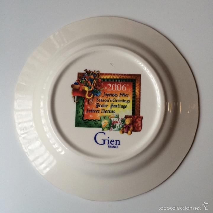Segunda Mano: Porcelana de Gien Plato Navidad Año 2006 - Foto 3 - 77262449