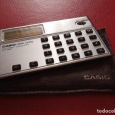 Segunda Mano: CALCULADORA CASIOMINI CARD LC-78S ELEECTRRONIC CALCULATOR CON FUNDA. Lote 78905233