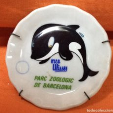 Segunda Mano: PLATO EN MINIATURA PORCELANA - ZOO BARCELONA. Lote 80757466
