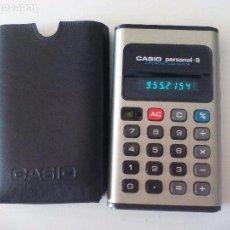 Segunda Mano: ANTIGUA CALCULADORA CASIO PERSONAL-8. ELECTRONIC CALCULATOR.FUNCIONANDO Y CON FUNDA.. Lote 81824512