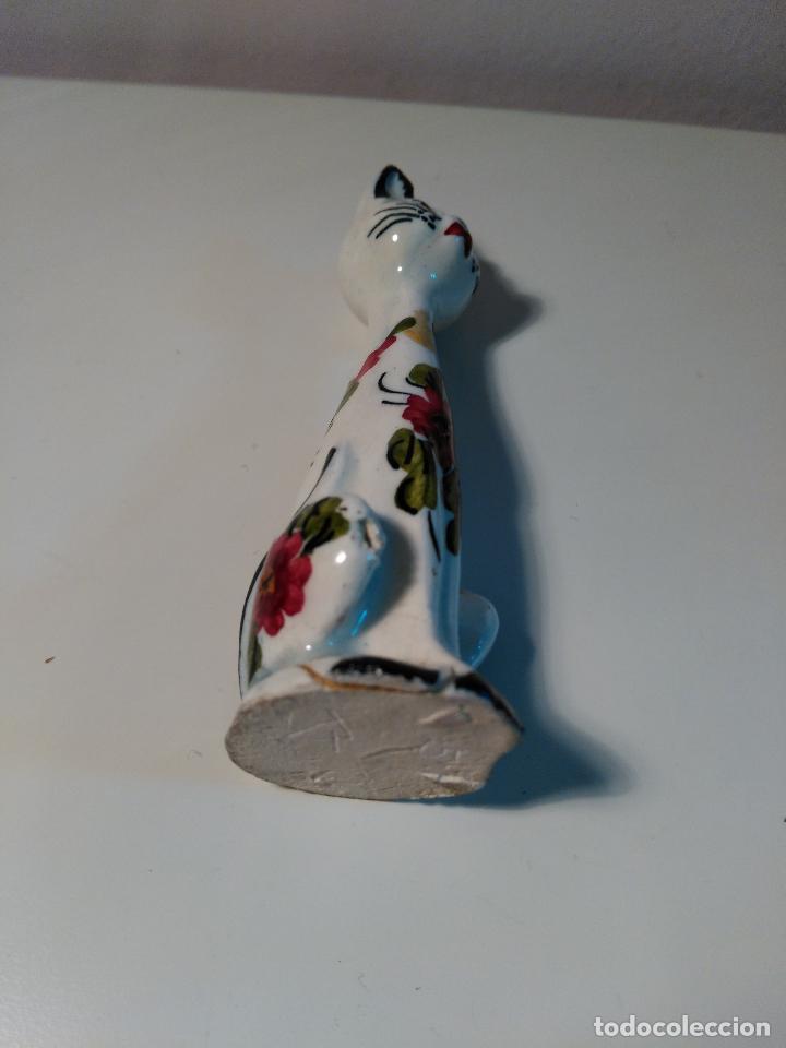 Segunda Mano: Figura de GATA en CERAMICA. DIBUJOS DE FLORES. - Foto 6 - 84123472
