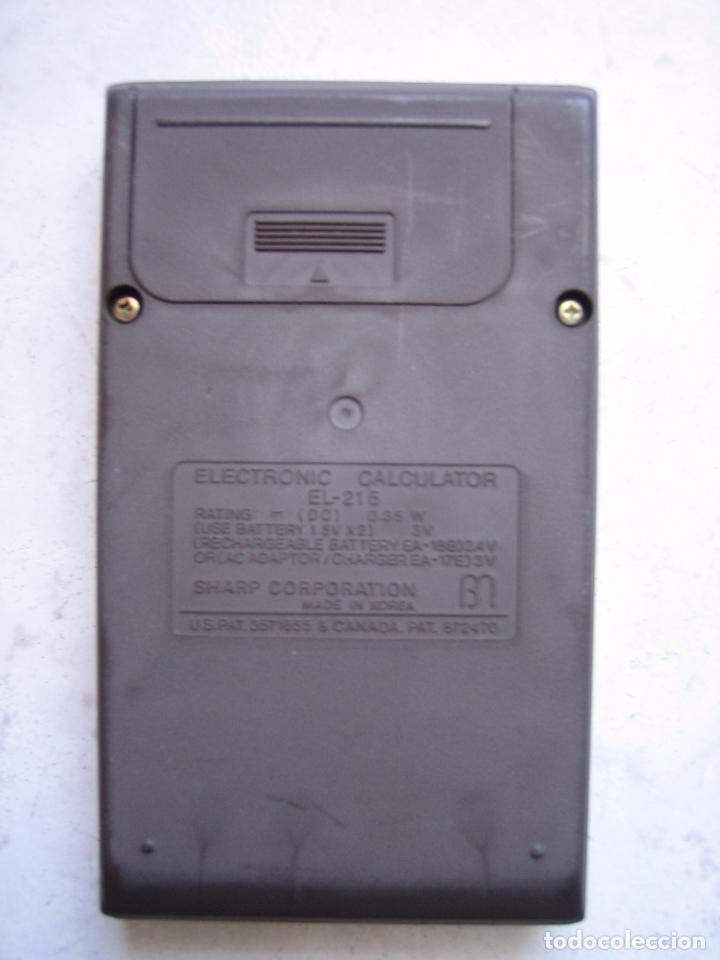 Segunda Mano: Antigua calculadora Sharp Elsi Mate El-215 - Foto 2 - 84574668