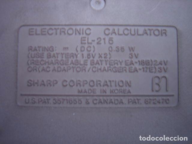 Segunda Mano: Antigua calculadora Sharp Elsi Mate El-215 - Foto 4 - 84574668