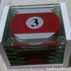 Segunda Mano: JUEGO 6 POSAVASOS DE CRISTAL. Lote 85750970