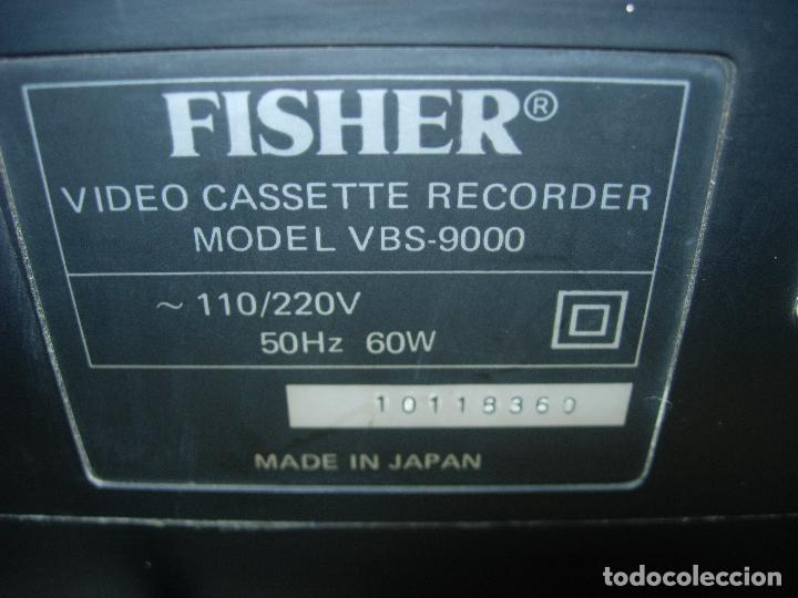Segunda Mano: Reproductor video FISHER VBS-9000 BETA BETAMAX BETACORD - Foto 13 - 86857638