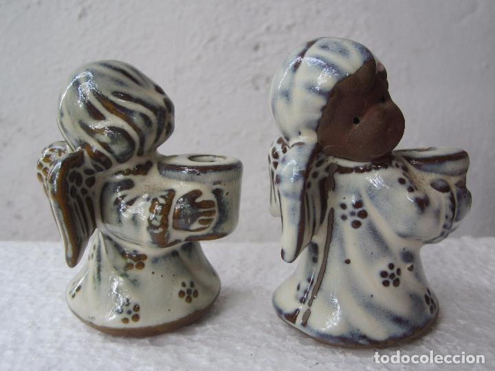 Segunda Mano: 2 pequeños candelabro angel para poner vela fina , ceramica - Foto 3 - 86872024