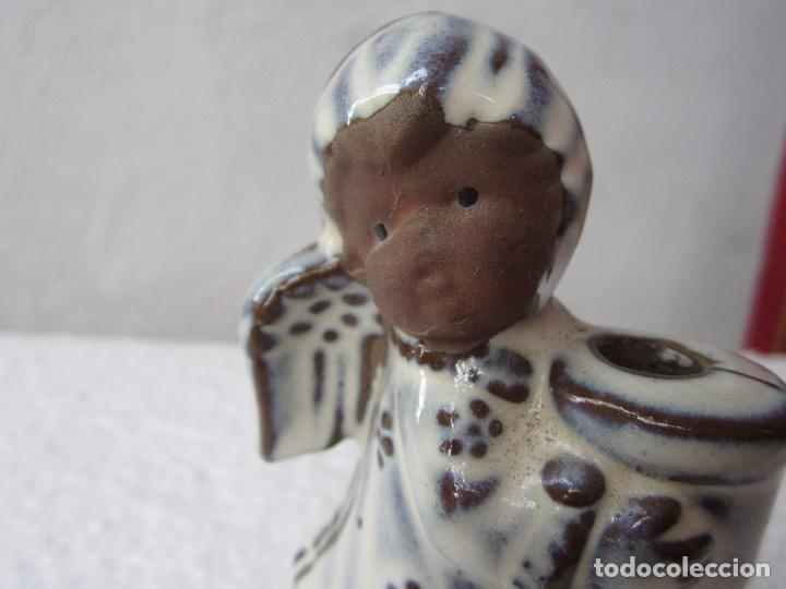 Segunda Mano: 2 pequeños candelabro angel para poner vela fina , ceramica - Foto 6 - 86872024