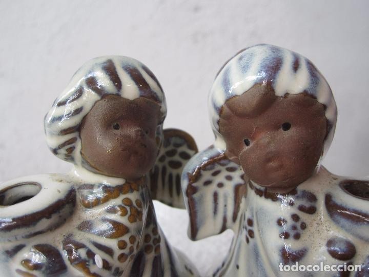Segunda Mano: 2 pequeños candelabro angel para poner vela fina , ceramica - Foto 7 - 86872024