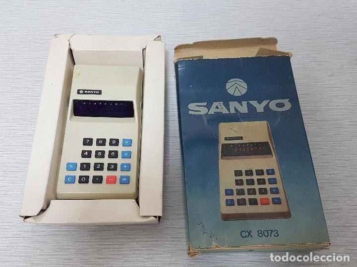CALCULADORA SANYO CX 8073 - VINTAGE - FUNCIONA (Segunda Mano - Artículos de electrónica)