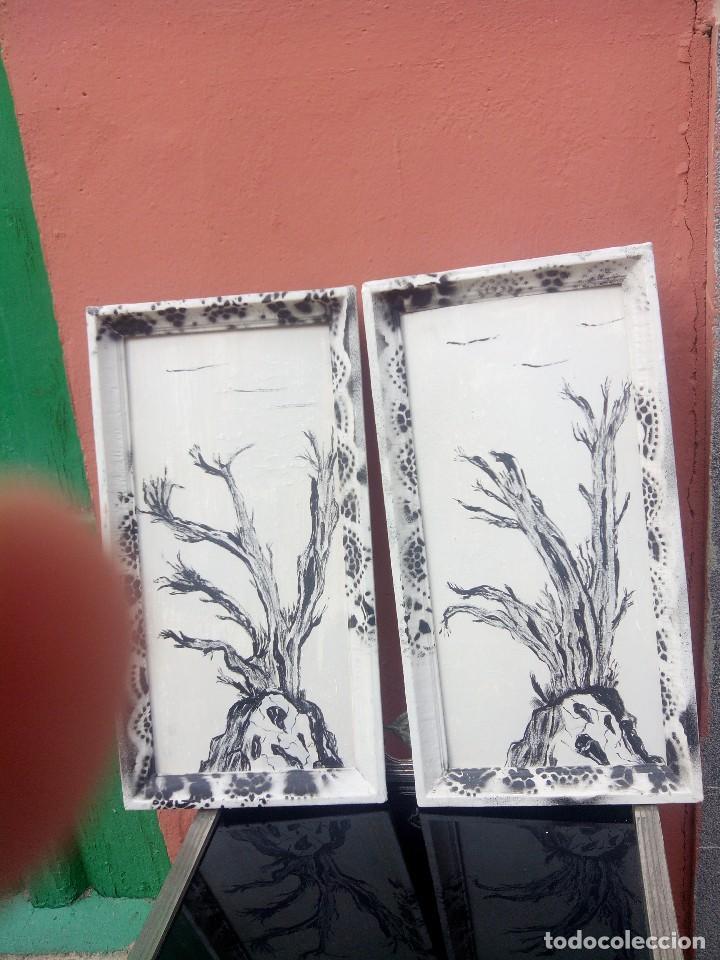 Decoracion con arboles secos este artculo partes del cuadro de arboles secos en blanco y negro - Cosas del hogar de segunda mano ...