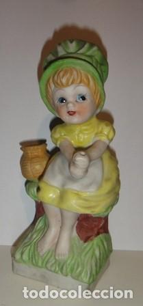 PIEZA DE CERÁMICA. IMAGEN INFANTIL SENTADA. SIN MARCAS (Segunda Mano - Hogar y decoración)