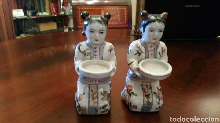 Pareja De Geishas Japonesas Porcelana Portave Comprar Artículos